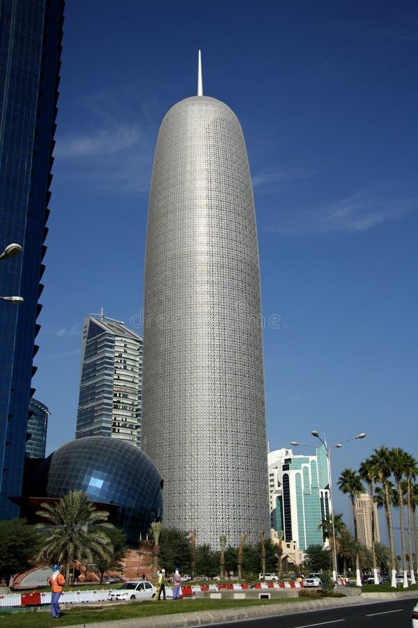 Burj Qatar dans Doha image libre de droits