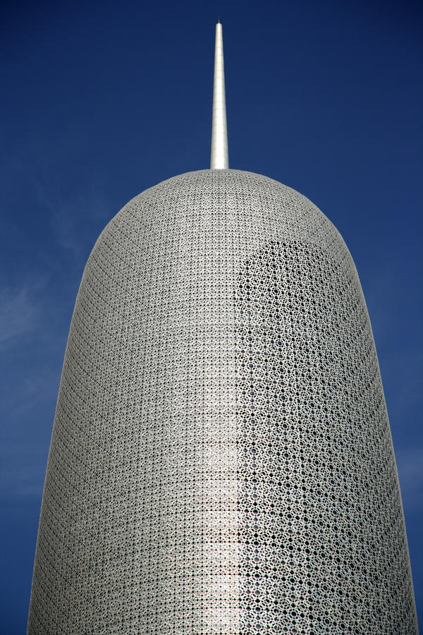 Download Burj Qatar in Doha editorial image. Image of patterns - 36634620