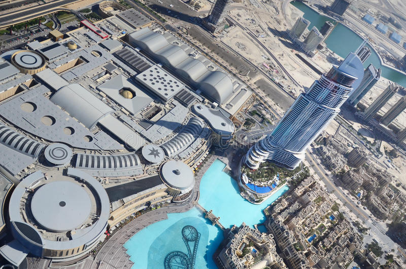 burj w centrum Dubai khalifa uae widok obrazy stock