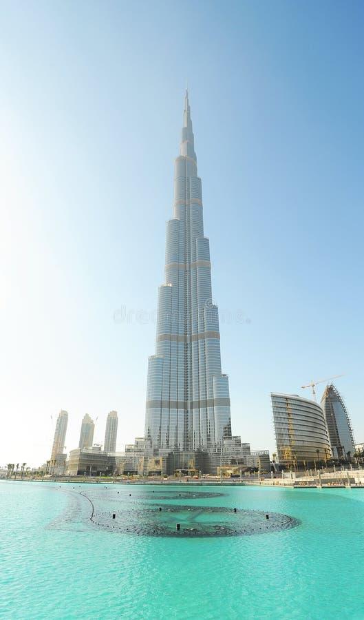 burjdubai khalifa royaltyfri foto