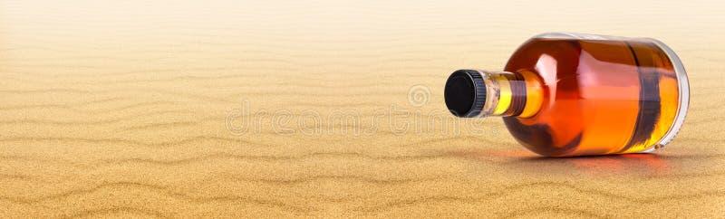 Burk av rom på stranden fotografering för bildbyråer
