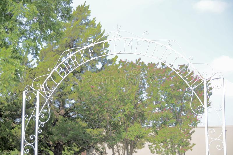 Burke Cemetery Established 1950, Forth Worth, le Texas photo stock