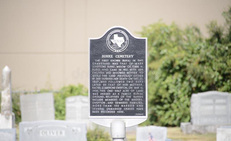 Burke Cemetery, Forth Worth, le Texas photos libres de droits