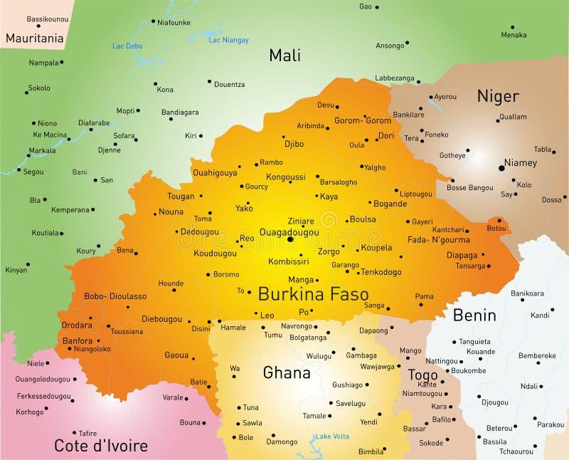 Burkina Faso ilustración del vector