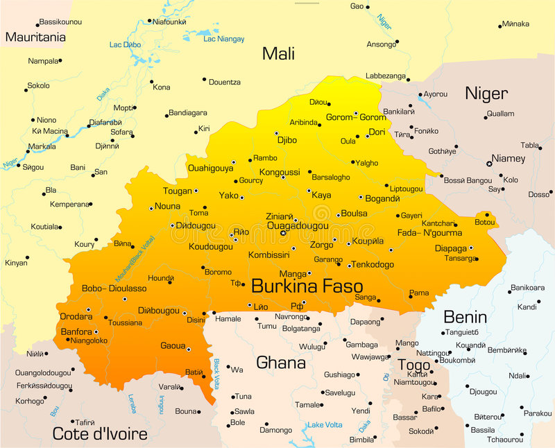Burkina Faso stock abbildung