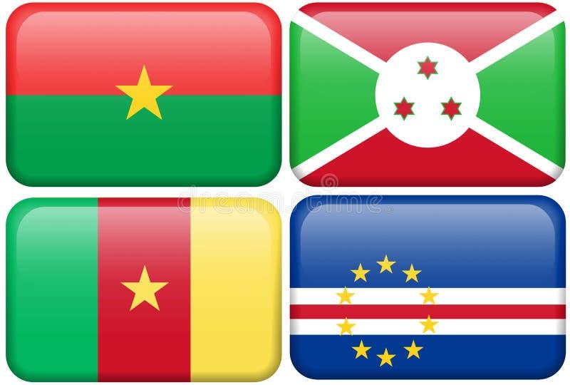 Burkina Faso, Burundi, Cameroun, Capo Verde illustrazione di stock