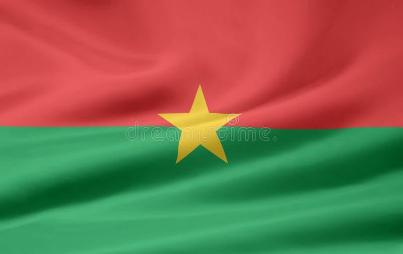 burkina faso flagę royalty ilustracja