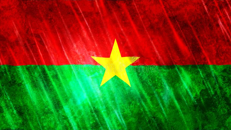 Burkina Faso Flag. For Print, Wallpaper Purposes, Size : 7680  x 4320 Pixels, 300 dpi, Jpg Format stock photo