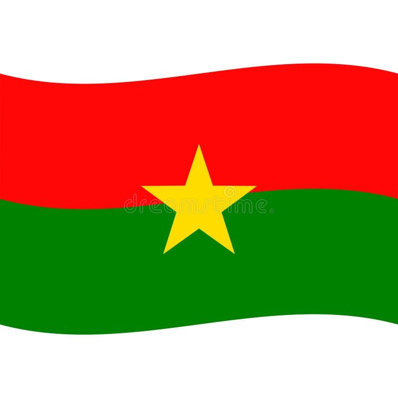 Burkina faso flag vector isolated 2 vector illustration