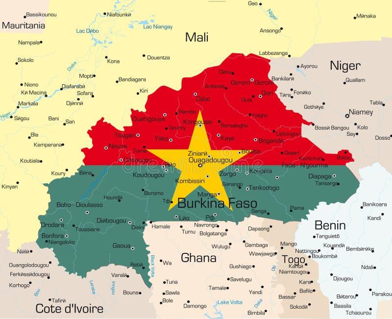 Burkina Faso land stock illustrationer