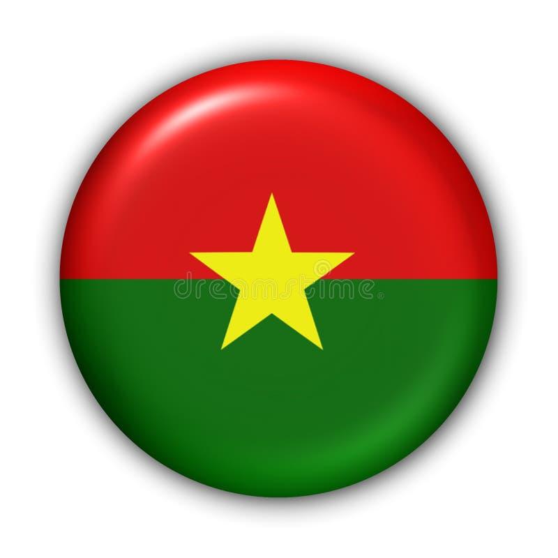 Burkina Faso Markierungsfahne lizenzfreie abbildung
