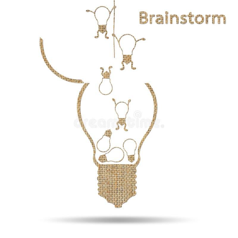 Burlap żarówki kreatywnie pomysłu konceptualny brainstorming ilustracja wektor
