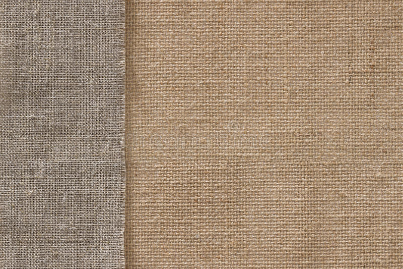 Burlap άνευ ραφής υπόβαθρο υφασμάτων σάκων υφάσματος, Sackcloth σύσταση στοκ φωτογραφία