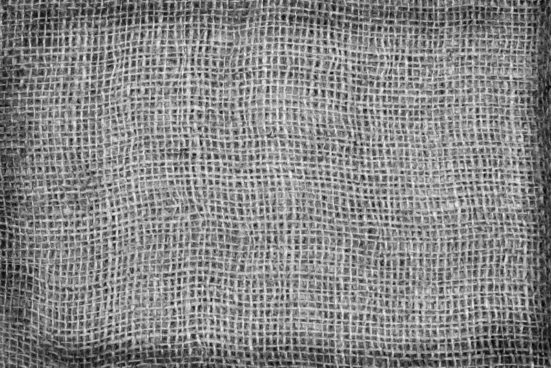 Burlap Background, black and white tone. royalty free stock photos