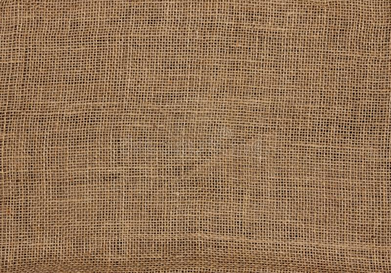 Burlap canvas sackcloth background stock photography