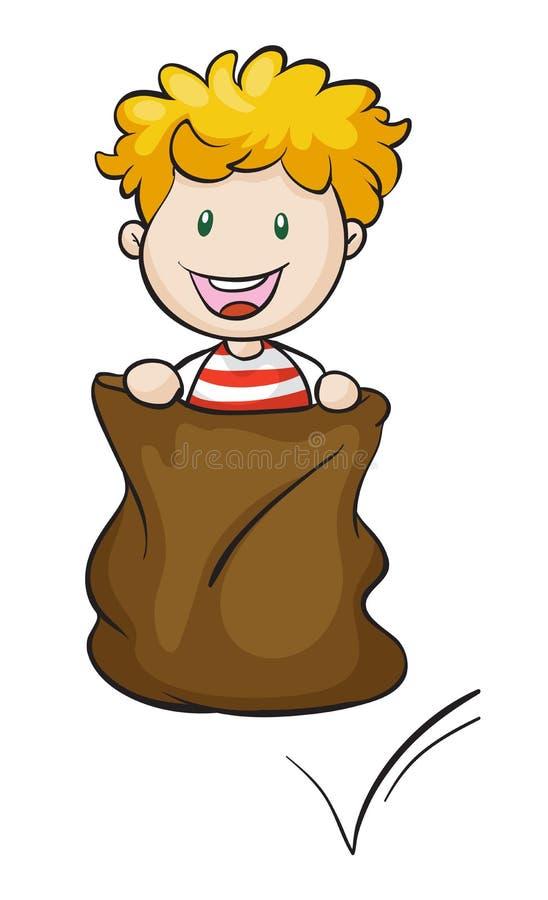 Burlap chłopiec i ilustracji