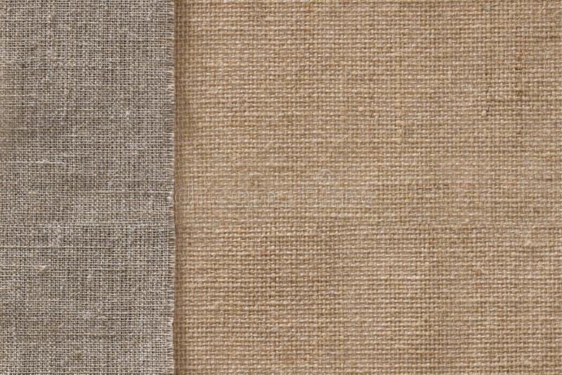 Burlap Fabric Seamless Sack Cloth Background, Sackcloth Texture stock photography