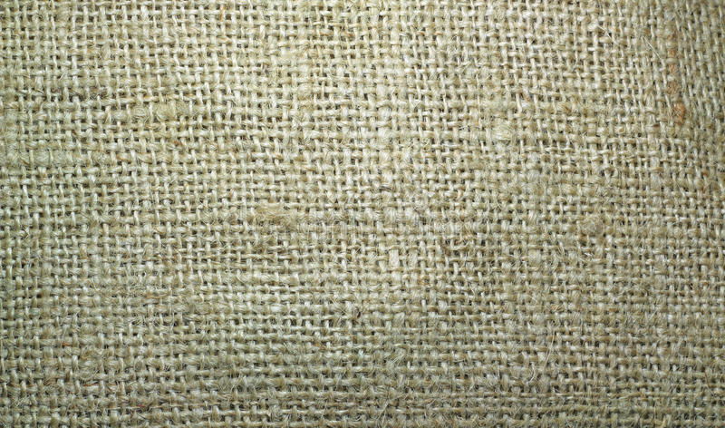 Burlap or hessian sacking material background. stock photo