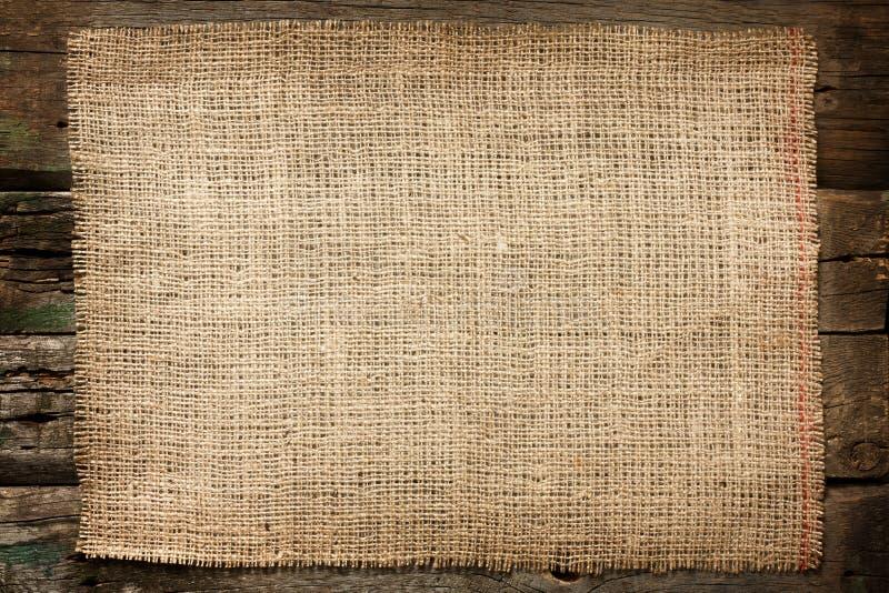 Burlap jutowy brezentowy rocznika tło fotografia stock