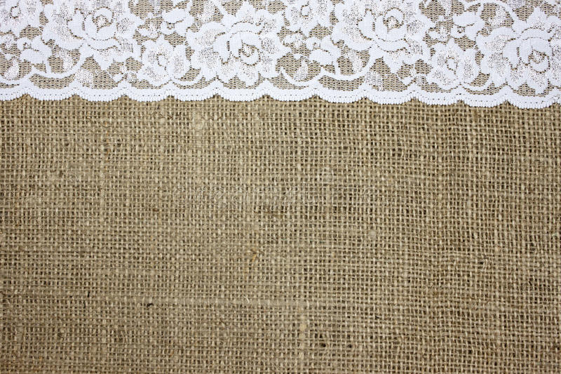 Royalty Free Stock Photo Download Burlap And Lace Texture Image Of Flower
