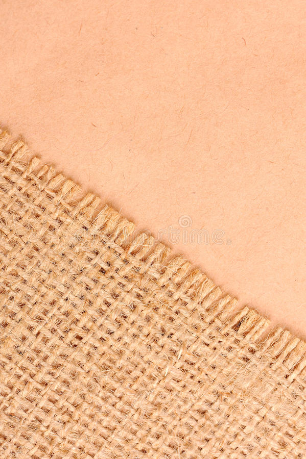Download Burlap And Paper Background Stock Photo - Image: 13497260
