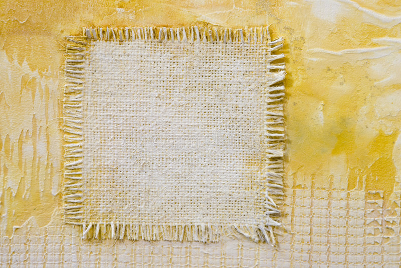 Burlap Patch Background Royalty Free Stock Images