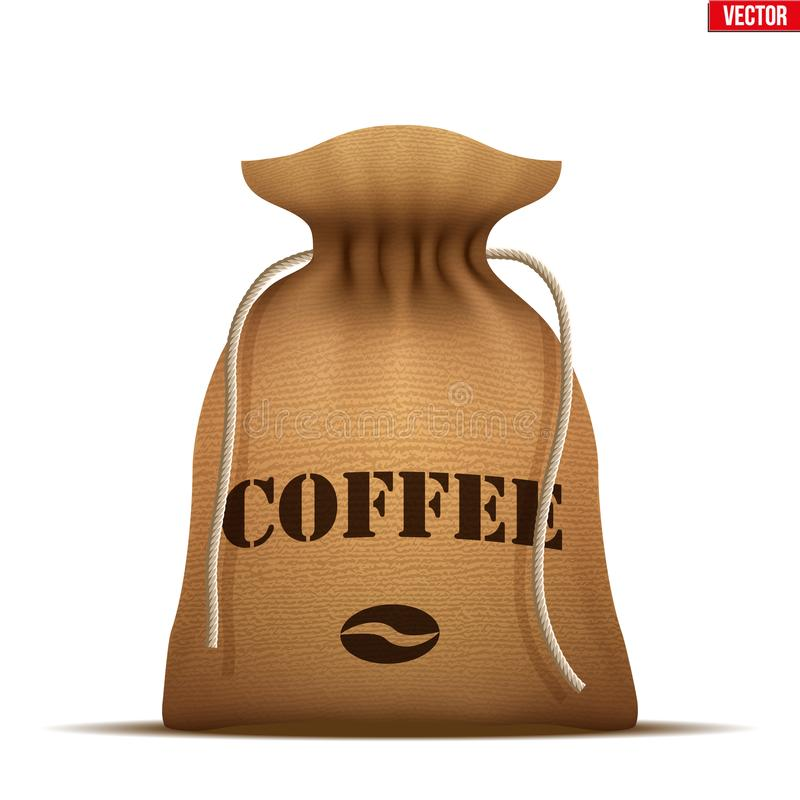 Burlap sack with Coffee. vector illustration