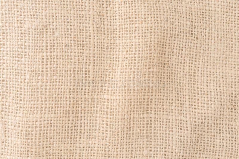 Burlap sack, hemp texture background pattern. Close up of burlap sack, hemp texture background pattern royalty free stock images