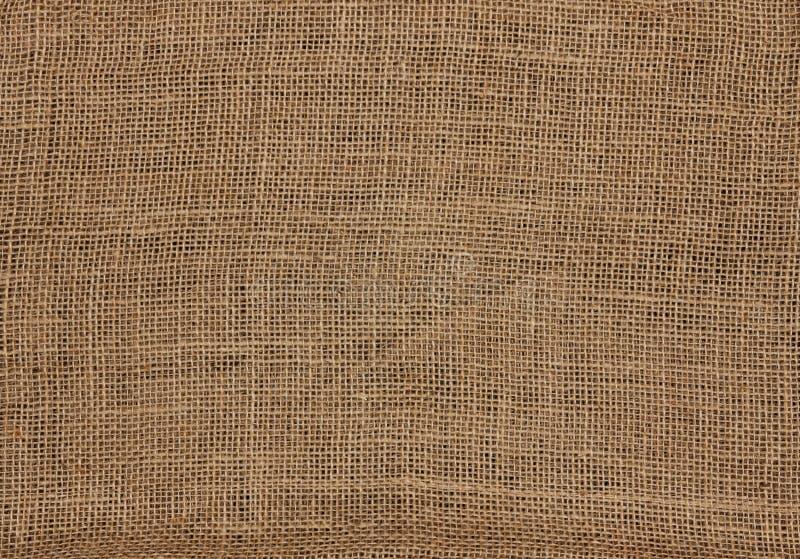 Burlap sackcloth καμβά υπόβαθρο στοκ φωτογραφία