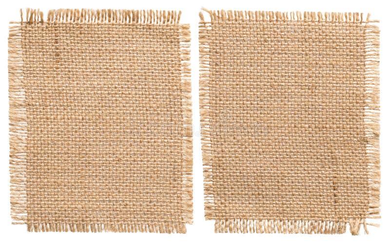 Burlap Sacking Cloth Pieces, Rustic Bagging Fabric Sack Patch stock photo