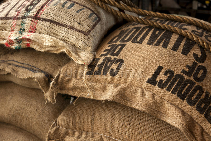 Download Burlap Sacks With Coffee Beans Stock Image - Image of imported, organic: 26552321