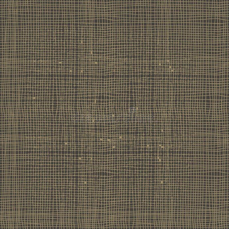 Burlap tekstury bezszwowy wektorowy tło ilustracji