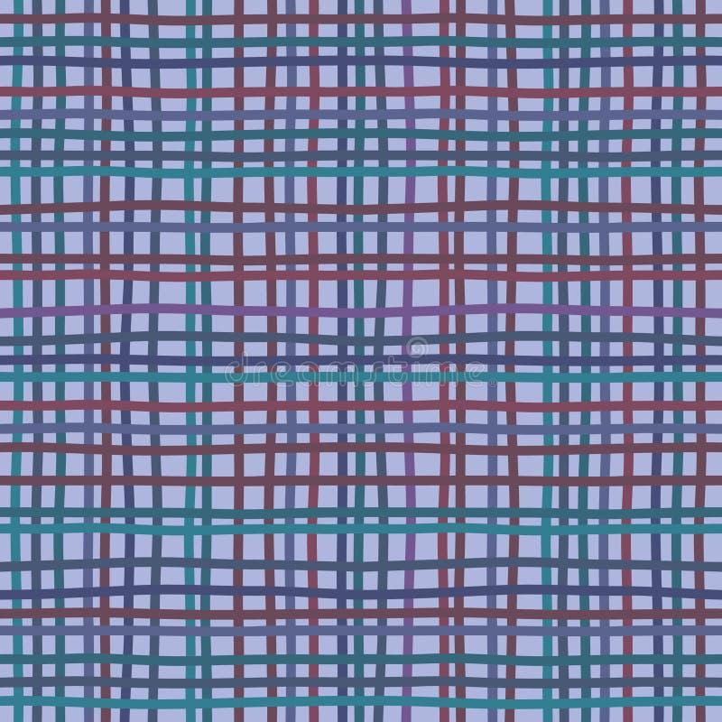 Burlap tkaniny lna workowego brezentowego bieliźnianego scrim tekstylnego materiału tekstury sukienny tło, wektorowa ilustracja royalty ilustracja