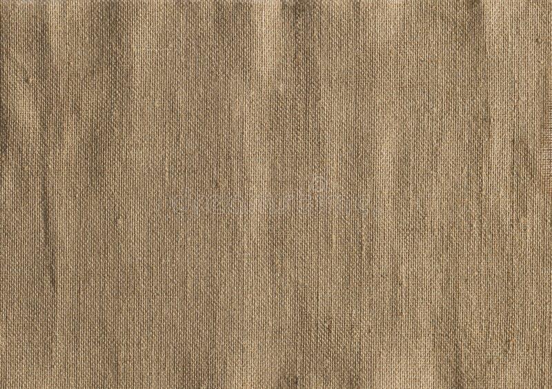 Burlap tkaniny tekstura, Jutowy Workowego płótna tło, parciak zdjęcia royalty free