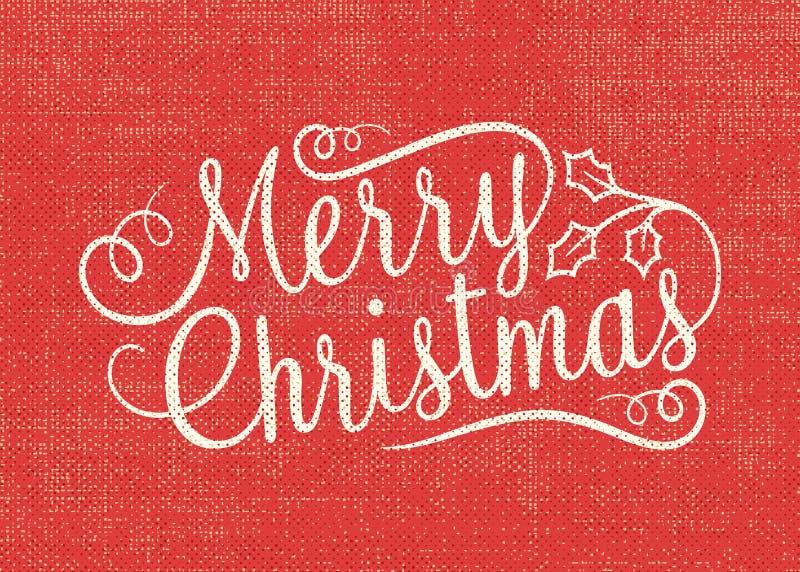 Burlap Wesoło kartka bożonarodzeniowa royalty ilustracja