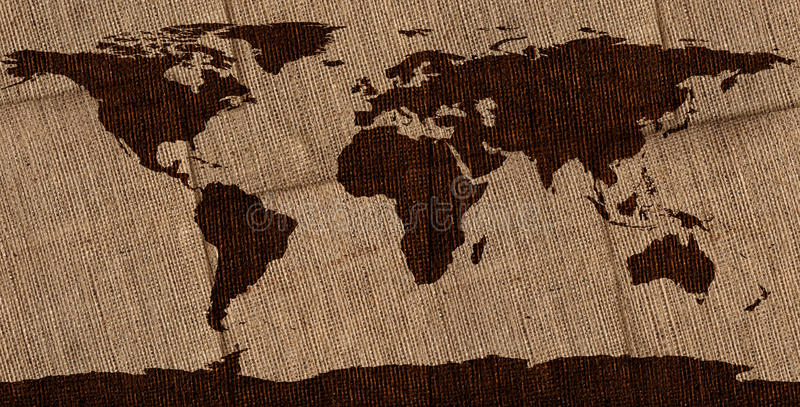 Download Burlap World Map stock photo. Image of globe, dirty, world - 28834574