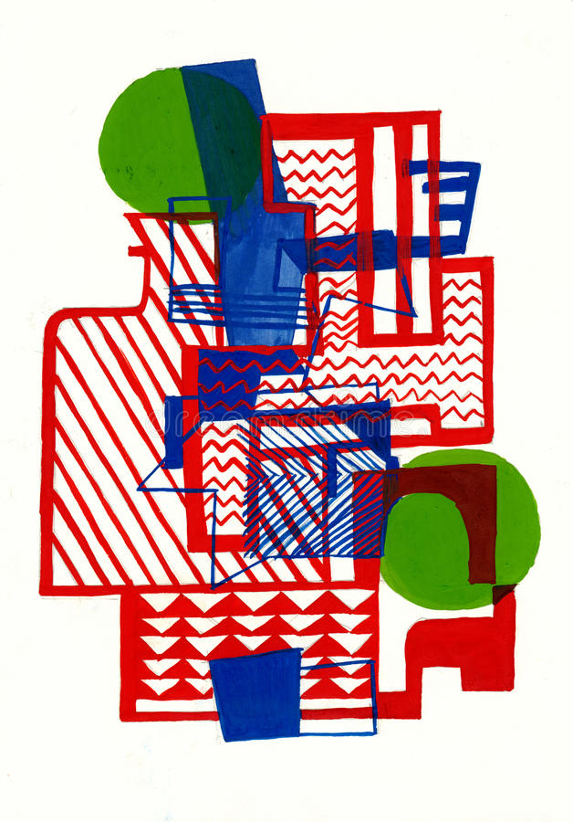 Burle Marx abstract composition vector illustration