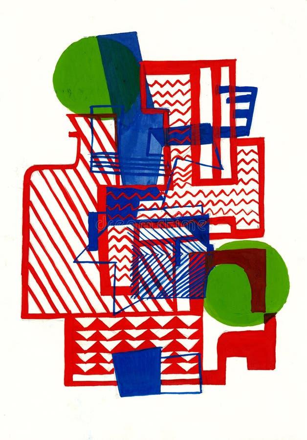 Burle Marx abstrakta skład ilustracja wektor