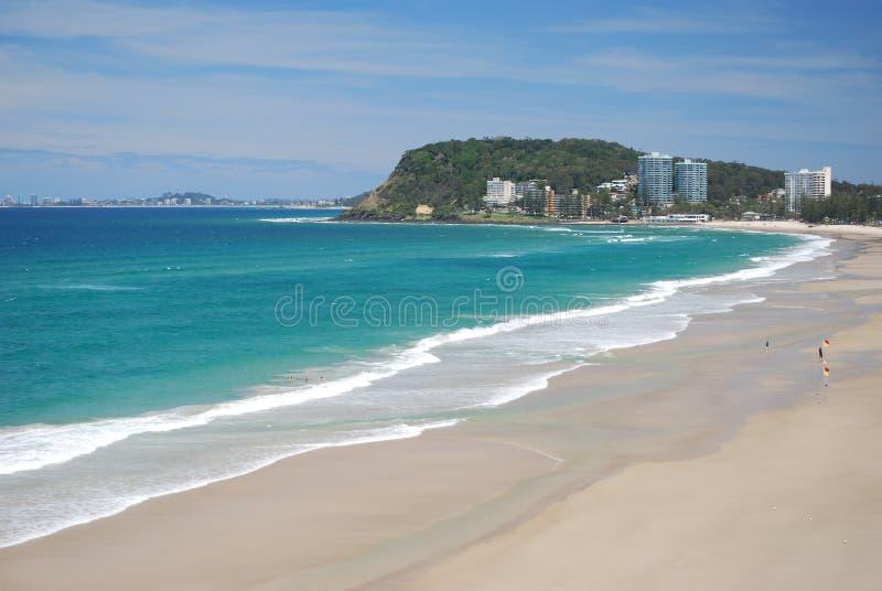 Burleigh dirige la spiaggia Gold Coast Australia fotografia stock libera da diritti