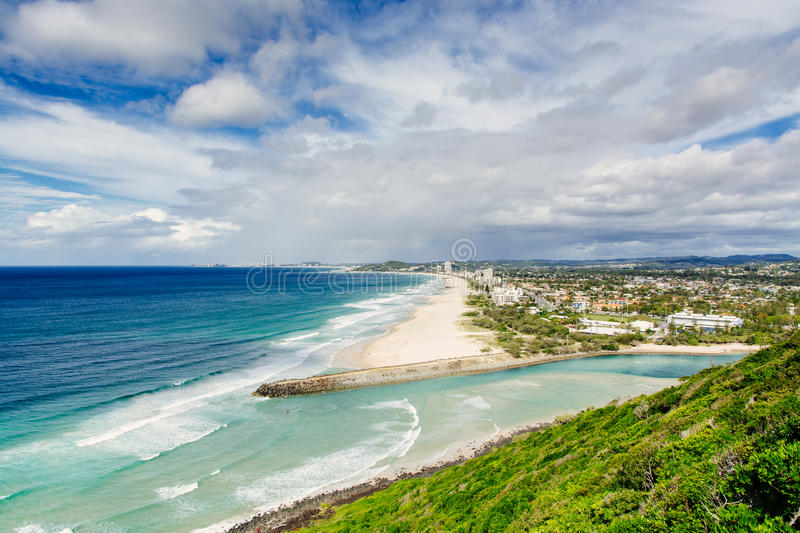 Burleigh Heads lookout royalty free stock photography