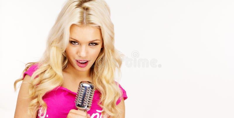 Download Burlesque blonde singer stock image. Image of show, closeup - 18447149