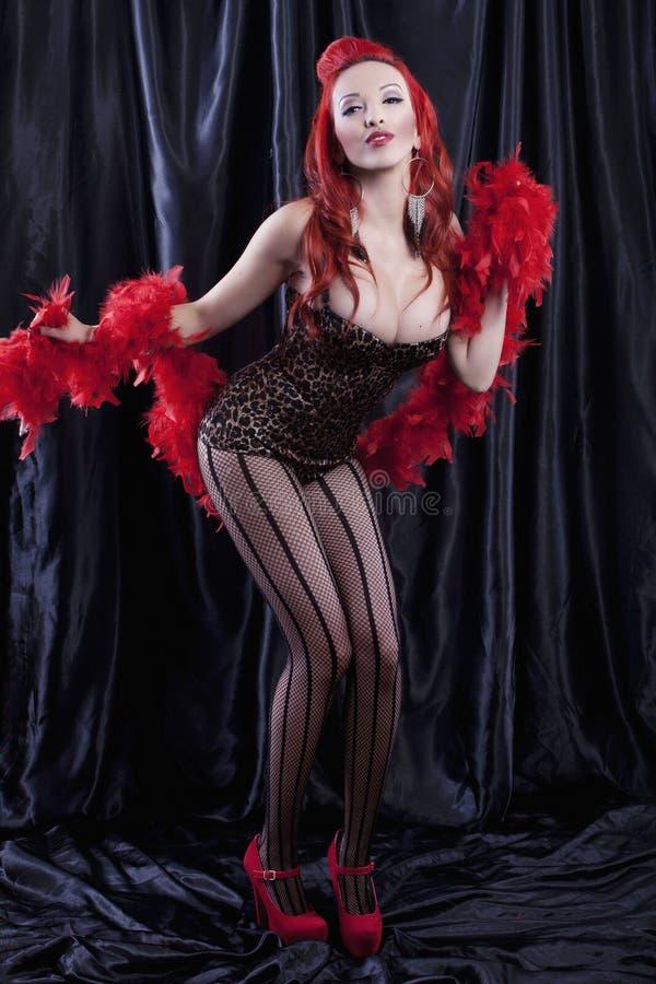 Burlesque dancer stock image