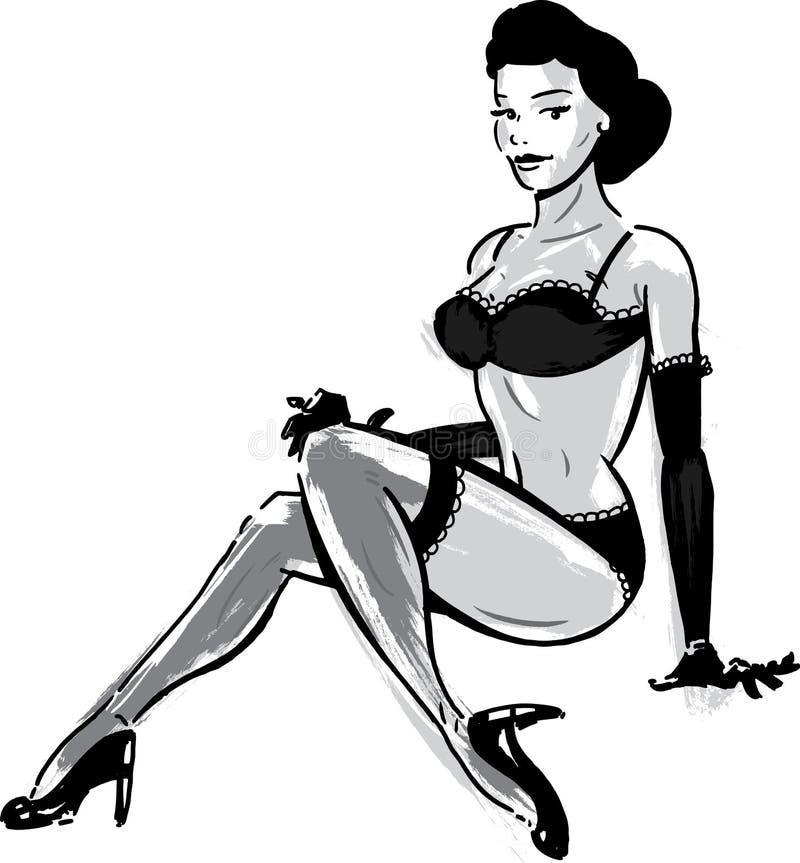 Download Burlesque Dancer In Underwear Stock Vector - Image: 19753425
