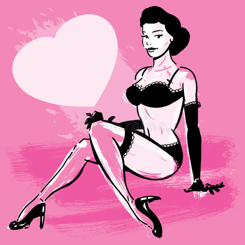 Download Burlesque Dancer In Underwear Stock Photography - Image: 19753432