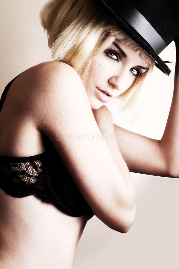 Burlesque Frau lizenzfreies stockfoto