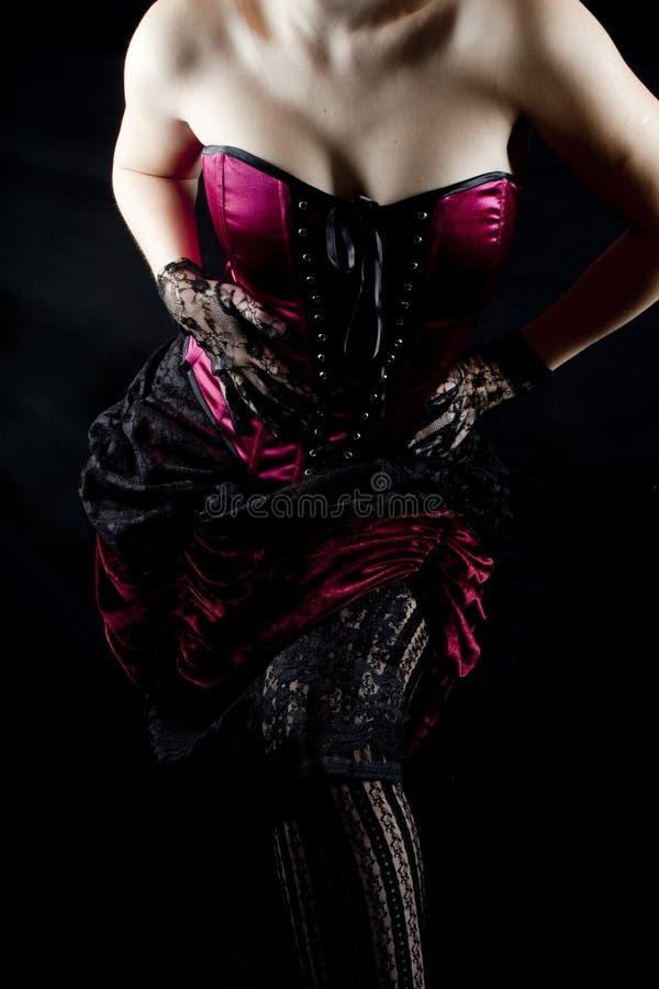 Burlesque Frau lizenzfreies stockbild