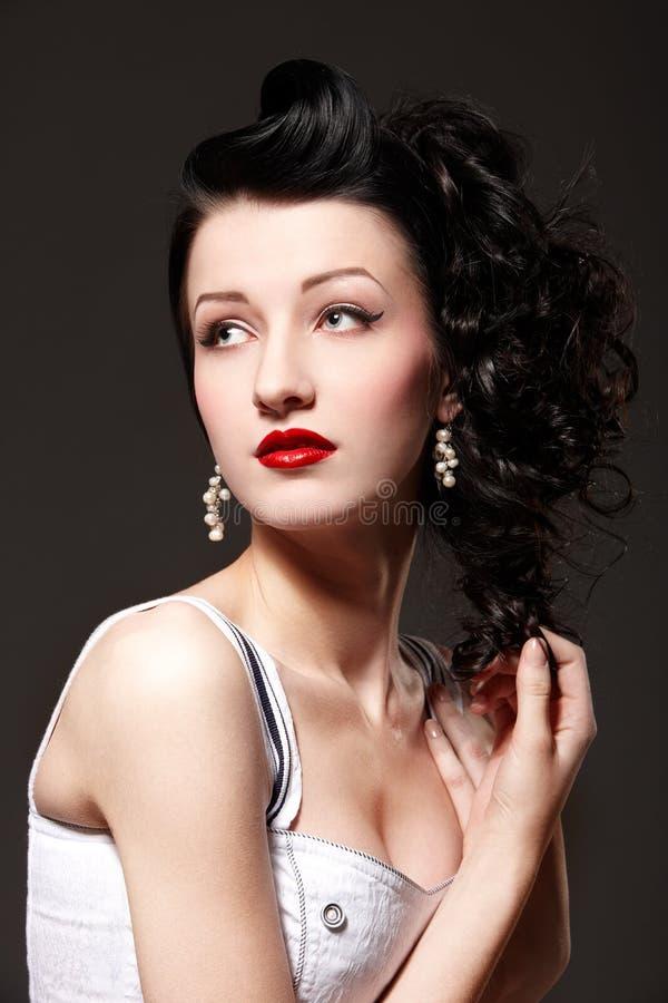 Burlesque Mädchen stockfoto