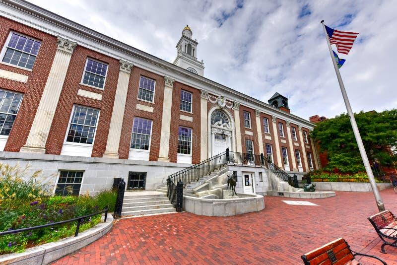 Burling Vermont urząd miasta fotografia royalty free