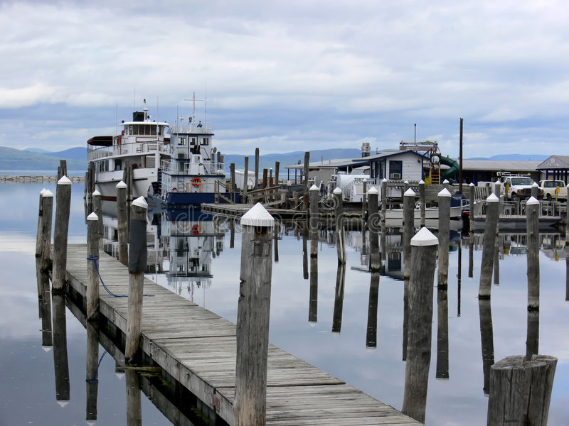 Burlington Harbor royalty free stock photo