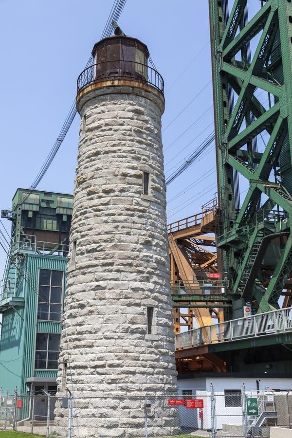 Burlington Kanałowa Główna latarnia morska Jeziornym Ontario obraz royalty free